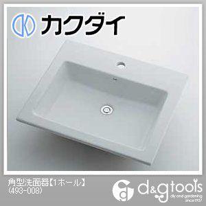 角型洗面器(1ホール)   493-008
