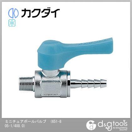 カクダイ(KAKUDAI) ミニチュアボールバルブ 651-805-1/4X8.0
