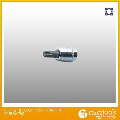 1/4sq.トルクスビットソケット  L28mm T30 2025.28-T30