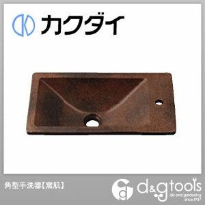 カクダイ(KAKUDAI) 角型手洗器 窯肌 493-010-M