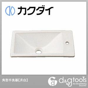 カクダイ(KAKUDAI) 角型手洗器 月白 493-010-W