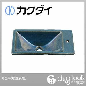カクダイ(KAKUDAI) 角型手洗器 孔雀 493-010-CB