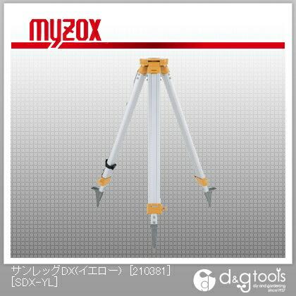 サンレッグDX(イエロー)[210381]5/8inch・平面アルミ製三脚   SDX-YL