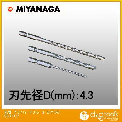 ミヤナガ 充電ドライバードリルロングブロック・モルタル用 R04315