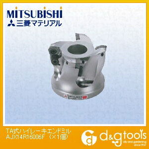 【送料無料】ミツビシマテリアル TA式ハイレーキエンドミル AJX14R16006F 1個