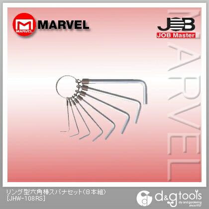ジョブマスター リング型六角棒スパナセット JHW-108RS 8本組