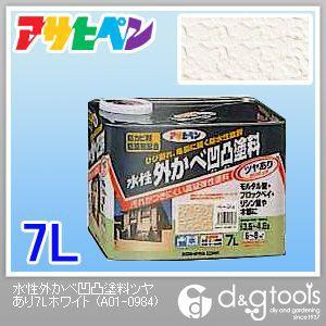 【送料無料】アサヒペン 水性外かべ凹凸塗料ツヤあり ホワイト 7L 1