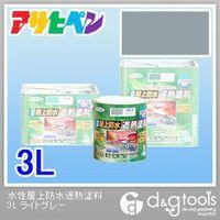 【送料無料】アサヒペン 水性屋上防水遮熱塗料3L ライトグレー 176 x 173 x 181 mm 1