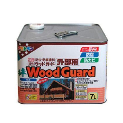 【送料無料】アサヒペン 油性ウッドガード外部用 ライトオーク02 7L 1