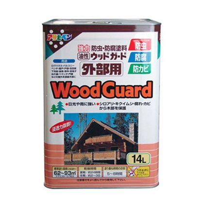 【送料無料】アサヒペン 油性ウッドガード 外部用 マホガニー07 14L 屋外 防虫 木部 1個