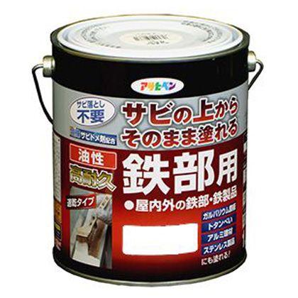 【送料無料】アサヒペン 油性高耐久鉄部用塗料 グリーン 1.6L 1