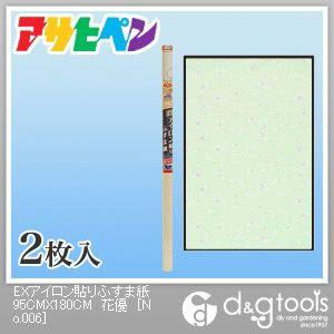 EXアイロン貼りふすま紙 花優 幅95cm×長180cm No.206 2 枚