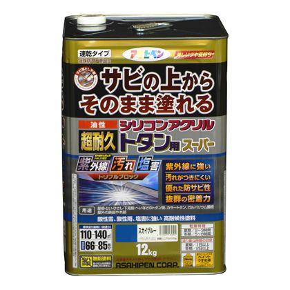 【送料無料】アサヒペン 油性超耐久シリコンアクリルトタン用 赤さび 12kg 1