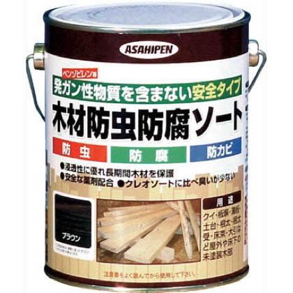 木材防虫防腐ソート1L ブラウン 1L