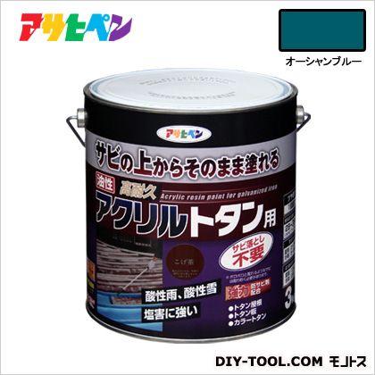 アサヒペン 油性高耐久アクリルトタン用塗料 オーシャンブルー 3kg