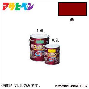 アサヒペン 油性 スーパーコート 赤 1.6L