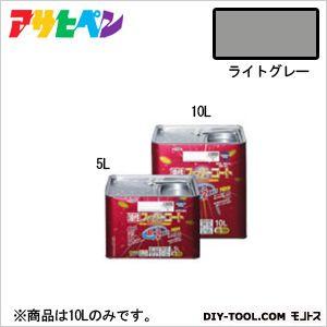 【送料無料】アサヒペン 油性スーパーコート ライトグレー 10L 1