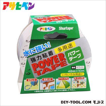 パワーテープ強力粘着多用途補修テープ ホワイト 48mm×10m T102