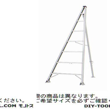 松葉型三脚脚立 シルバー 全長3.92m、高さ3.76m KTW-360F