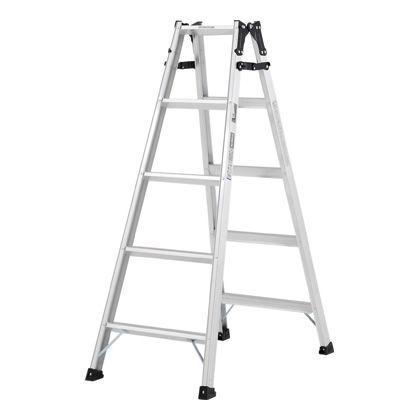 幅広踏ざん(55mm)はしご兼用脚立PRS-W  天板高さ:1.41m PRS150WA