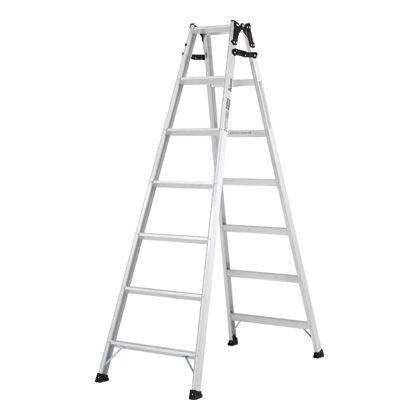 幅広踏ざん(55mm)はしご兼用脚立PRS-W  天板高さ:1.99m PRS210WA