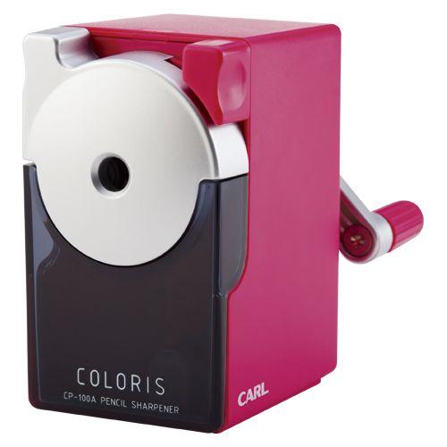 カール事務器 カラリス鉛筆削器CP-100A ピンク CP-100A-P