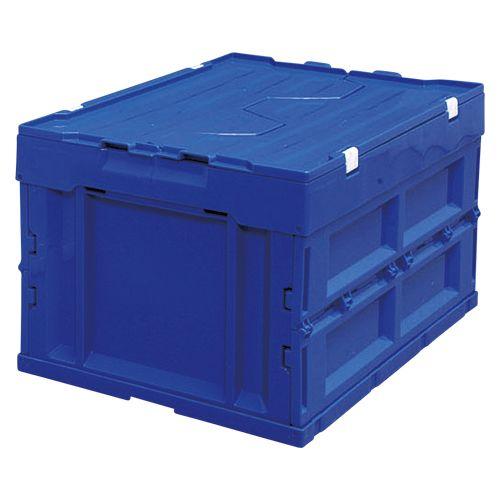 アイリスオーヤマ ハード折りたたみコンテナフタ一体型40L ブルー HDOH-40L