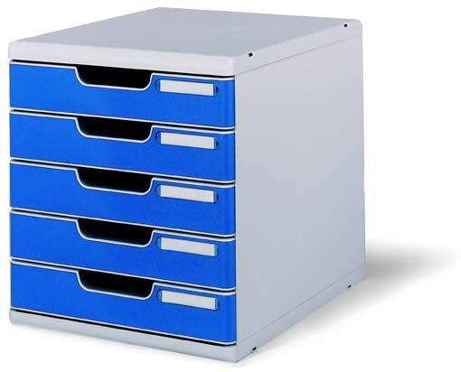 エグザコンタ オフィスセット・システム2 ライトグレー/ブルー 0301-4003