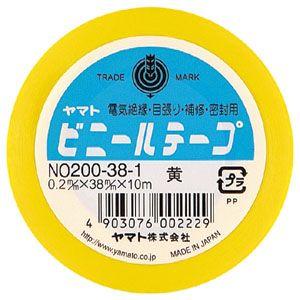 ビニールテープNo200-38 黄  NO200-38-1