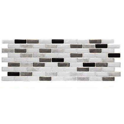 ブリックタイルシール グレーミックス 縦38.4×横13.7(cm) BR-003