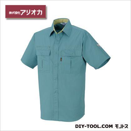 アリオカ 作業着(作業服)半袖シャツ春夏用 オーシャンブルー M 881