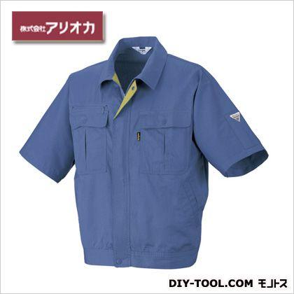 作業着(作業服)半袖ジャンパー春夏用 ラベンダー M 884