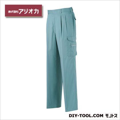 アリオカ 作業着(作業服)ツータックカーゴパンツ春夏用 オーシャンブルー M 886