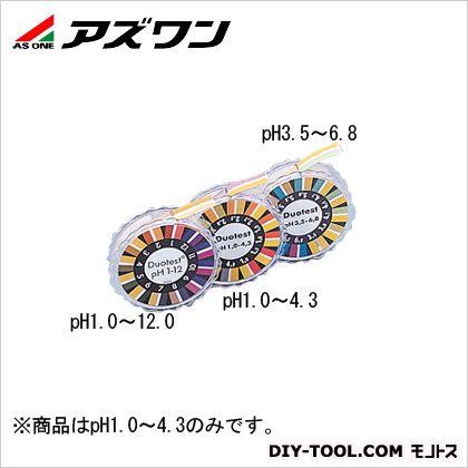 ツーバンドPH試験紙 pH測定領域:1.0~4.3(ロールタイプ)  10mm幅×5m巻 2-345-02 1箱(1巻入)