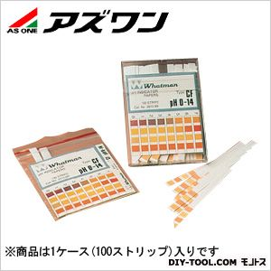 PH試験紙ストリップ pH測定領域:0~14   2-341-01 1ケース(100ストリップ入)