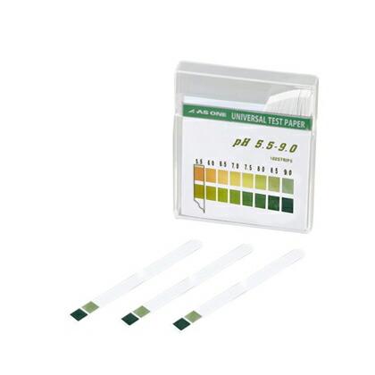 pH試験紙 pH測定領域:5.5~9.0  6×80mm 1-1267-05 1箱(100枚入)