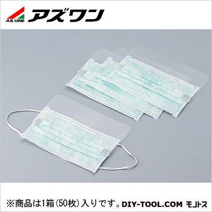 アズワン フェイスマスク透明バイザー付 8-3051-03 1箱(50枚入)