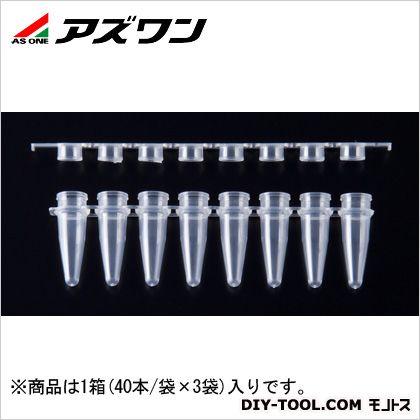 PCRチューブ  0.2ml 1-1599-03 1箱(40本/袋×3袋入)