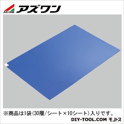 エコノミー粘着マット 青 600×900mm 2-4909-02 1箱(30層/シート×10シート)