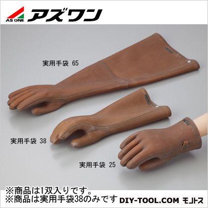天然ゴム手袋実用手袋38   1-2664-02