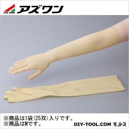【送料無料】アズワン ラテックスロング手袋パウダーフリー M 1-1432-02 25