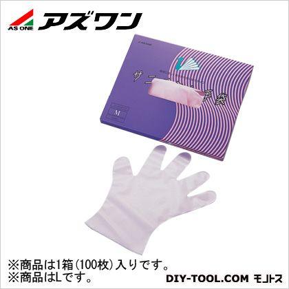 サニメント手袋 エンボス  L 6-896-01 1箱(100枚入)