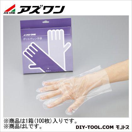 ポリエチレン手袋エコノミー外エンボス  L 2-4975-01 1箱(100枚入)