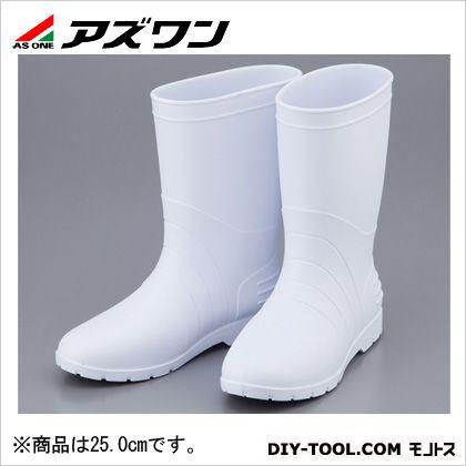 【送料無料】アズワン サニフィット耐油長靴軽量女性用 白 25.0cm 2-3670-03 0