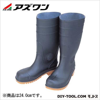 【送料無料】アズワン 耐油安全長靴 黒 24cm 1-4905-01 0
