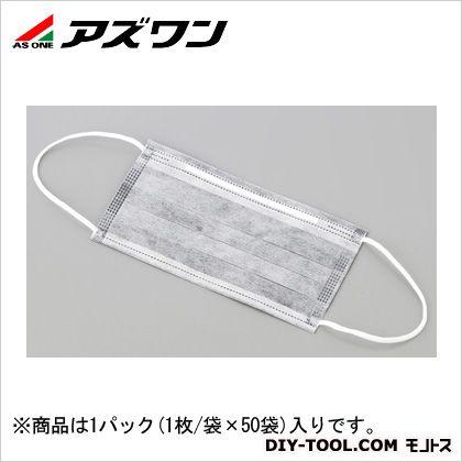 低発塵活性炭マスク 耳かけ   1-3449-01 1パック(1枚/袋×50袋入)