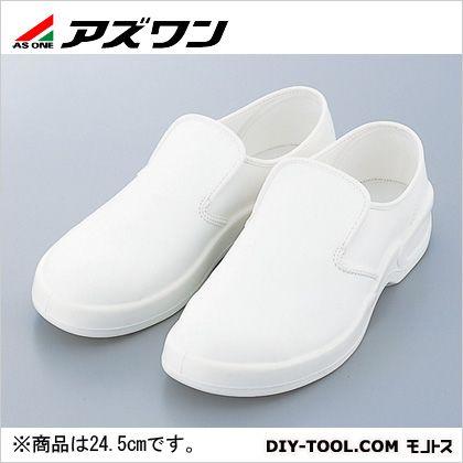 【送料無料】アズワン ゴールドウイン静電安全靴クリーンシューズホワイト24.5cm 380 x 282 x 175 mm PA9880-W-24.5 1足
