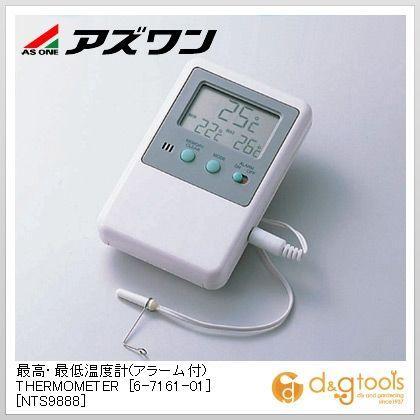 最高・最低温度計(アラーム付)[NTS9888]  70×19×110mm 6-7161-01