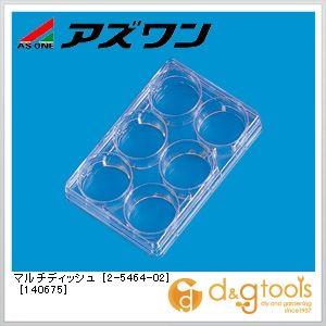 マルチディッシュ[140675]丸型(6ウェル)  86×128mm 2-5464-02 1ケース(1個/包×75包)
