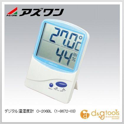 デジタル温湿度計O-206BL   1-8672-03